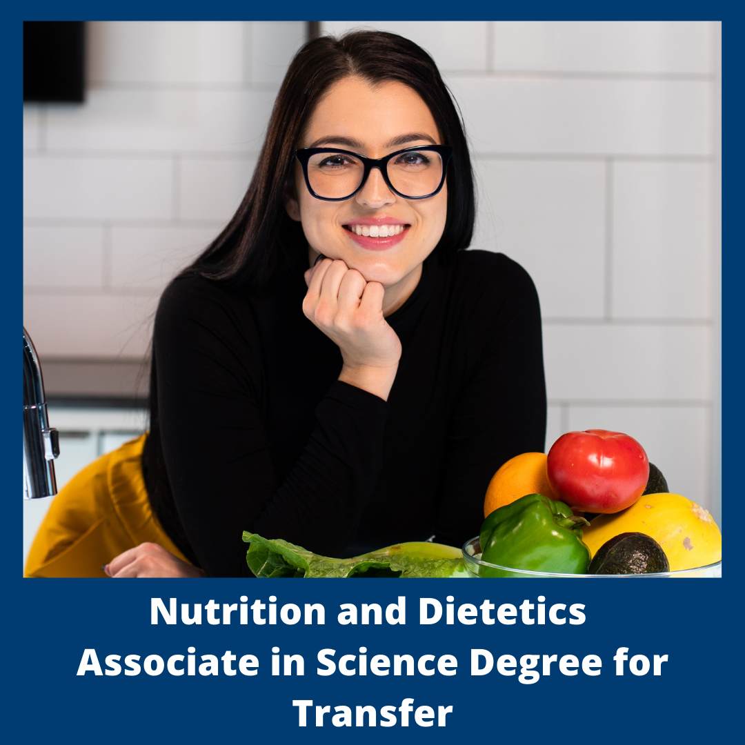 Button for Nutrition and Dietetics Associate in Science Degree for Transfer