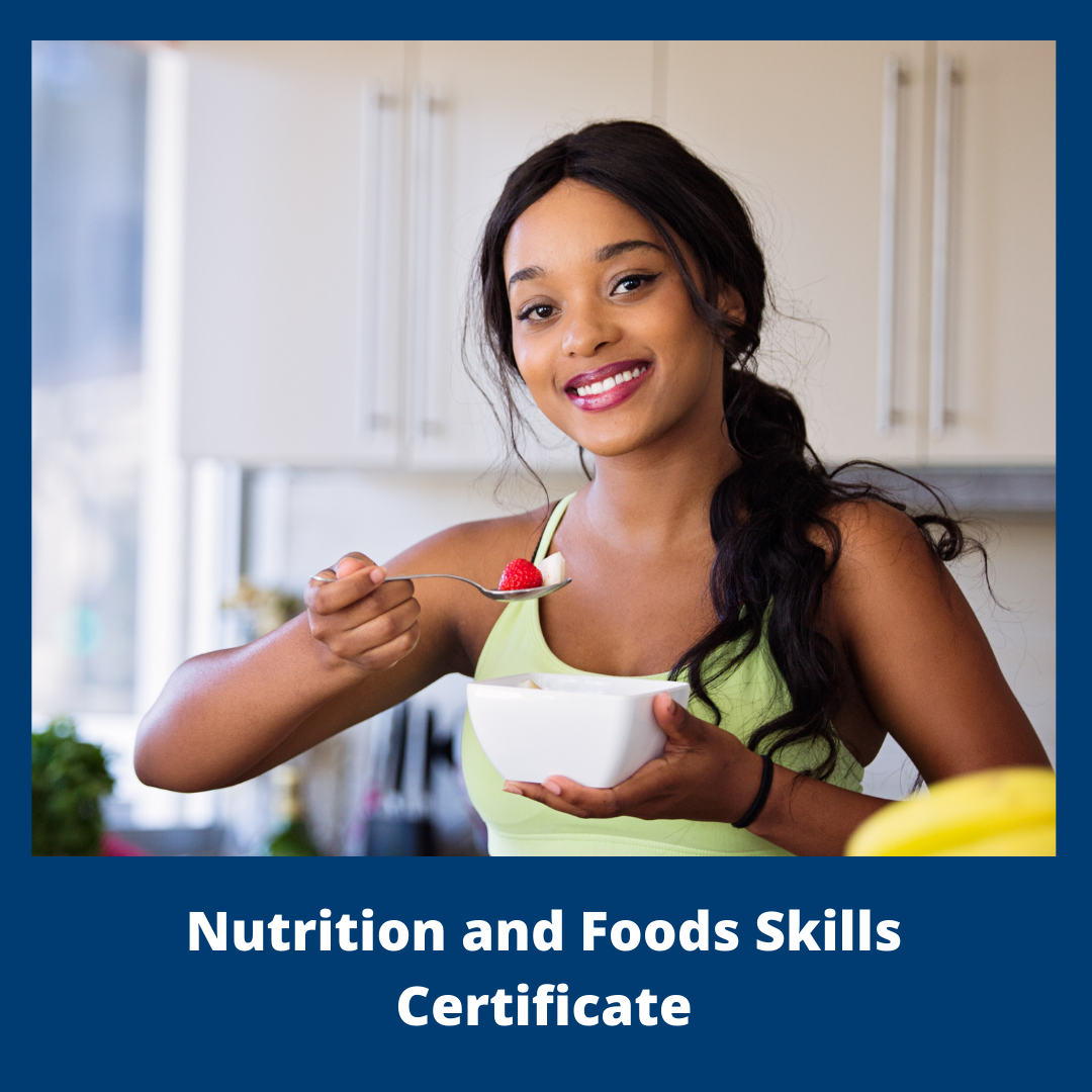 Button for the Nutrition and Foods Skills Certificate