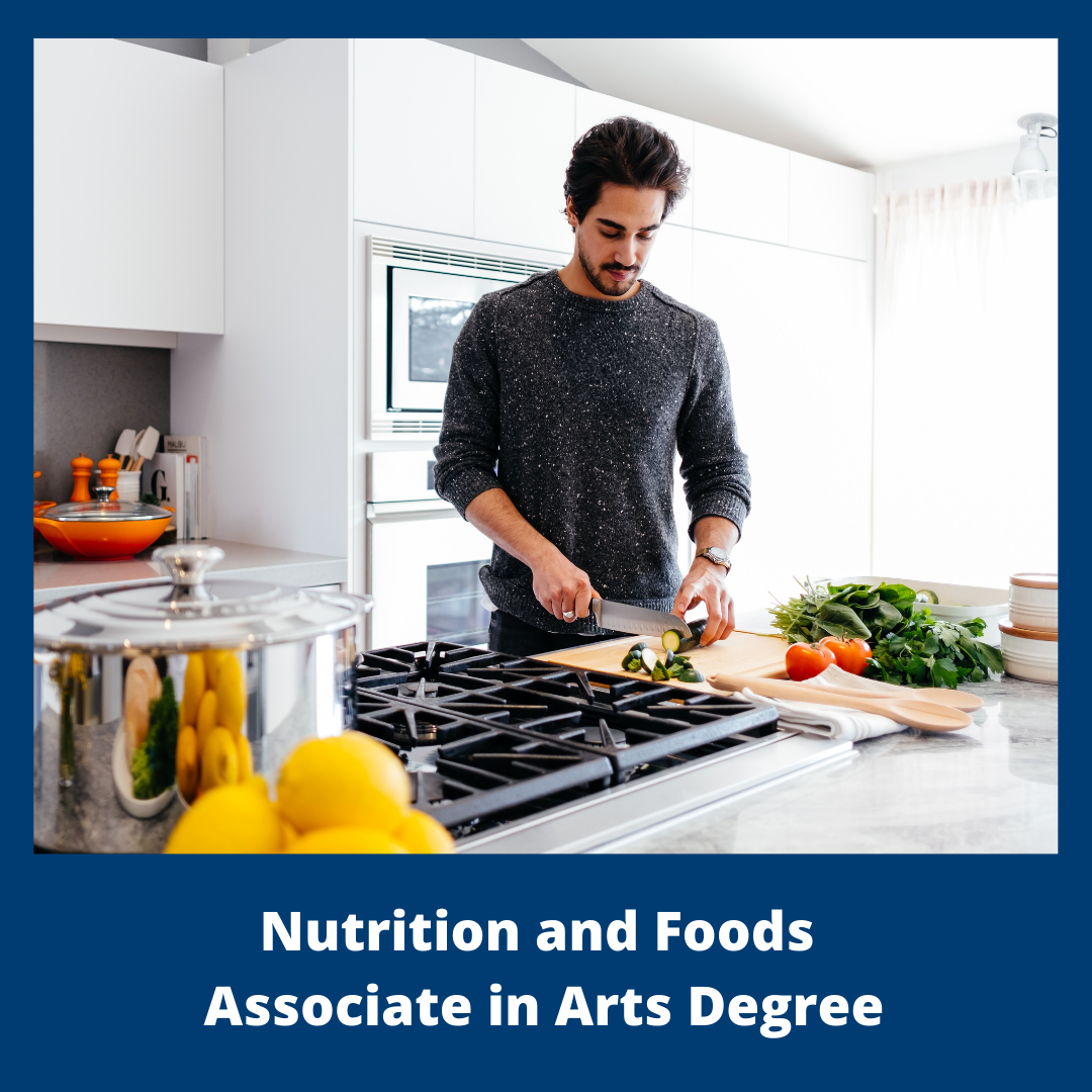 Button for Nutrition and Foods Associate in Arts Degree